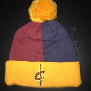 Cleveland cavaliers split colored beanie